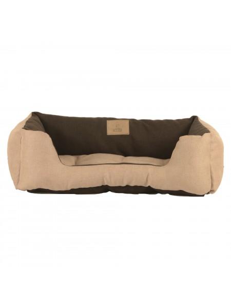 Лежак для домашніх тварин 2в1 Дипломат 60х40 беж-корич