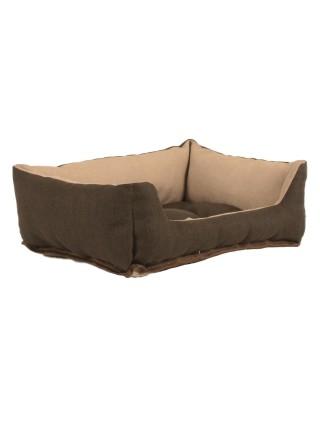 Лежак для домашніх тварин 2в1 Дипломат 40х30 беж-корич