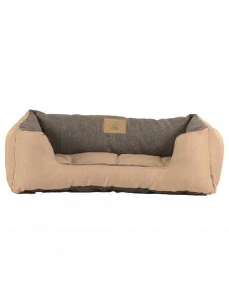 Лежак для домашніх тварин 2в1 Дипломат 60х40 беж-cірий