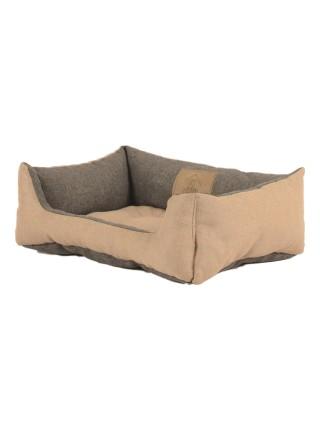 Лежак для домашніх тварин 2в1 Дипломат 40х30 беж-cірий