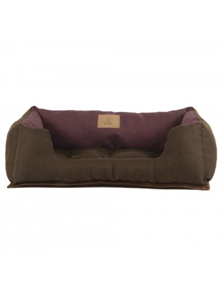 Лежак для домашніх тварин 2в1 Дипломат 60х40 бордо-коріч