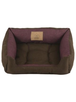 Лежак для домашніх тварин 2в1 Дипломат 40х30 бордо-коріч