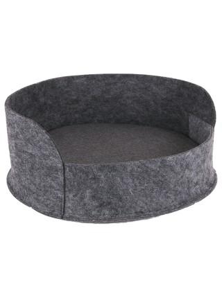 Лежак круглий з фетру з подушкою 5 см