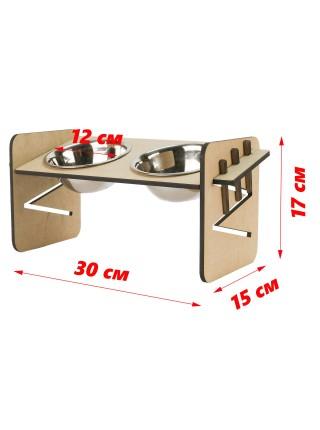 Підставка з 2 мисками з нж сталі 12 см