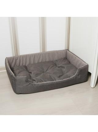 Лежак для домашніх тварин прямокутний 63х46 см корич