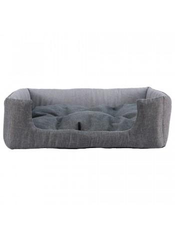 Лежак для домашніх тварин прямокутний 42х34 см сірий