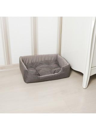 Лежак для домашніх тварин прямокутний 42х34 см корич