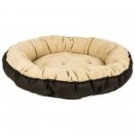 Лежак для домашніх тварин Fx Home круглий 56 см фліс беж