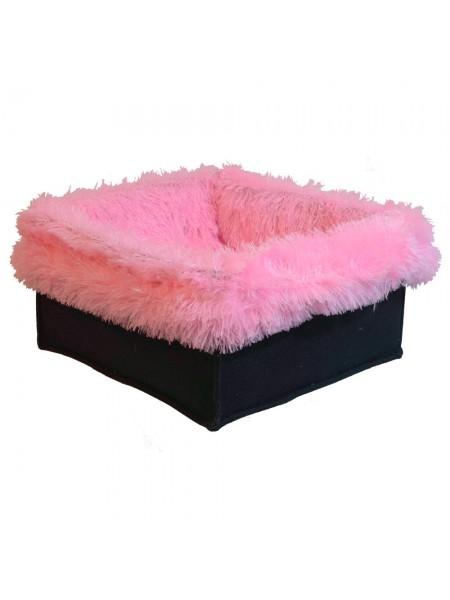 Лежанки для котов и собак 2 в 1  40х40х25 см со съемным чехлом Fx Home розовая