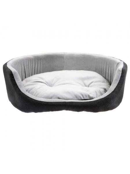 Лежанки для котов и собак овальная серая Fx Home