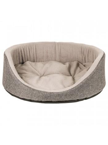 Лежак для домашніх тварин Fx Home овальний сірий