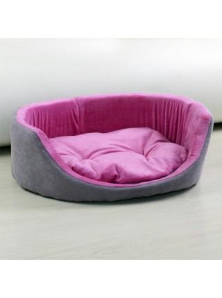 Лежанки для котов и собак овальная розовая Fx Home
