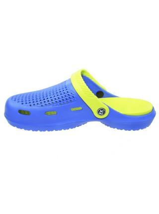 Сабо FX shoes Сине-Салатовые