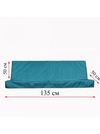 Матрас для садової гойдалки 1350 мм х 500 мм + 500 мм. Fx Home Зелений