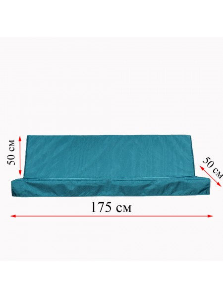 Матрас для садової гойдалки 1750 мм х 500 мм + 500 мм. Fx Home Зелений