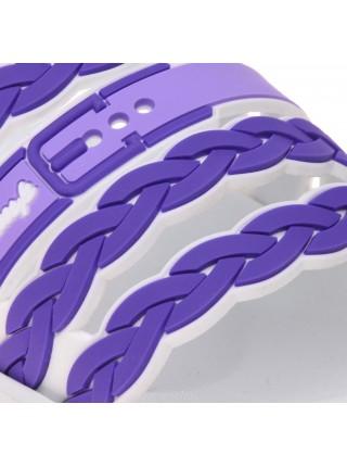 Шльопанці жіночі арт. L-102 біло-фіолетові